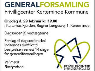 Generalforsamling i Frivilligcenter Kerteminde Kommune